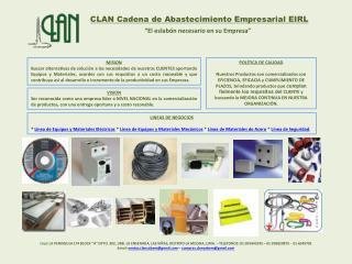 CLAN Cadena de Abastecimiento Empresarial EIRL