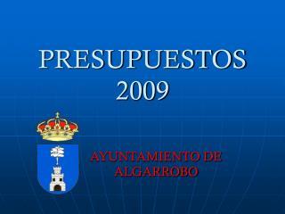 PRESUPUESTOS 2009
