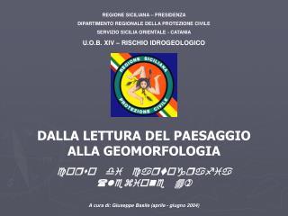 REGIONE SICILIANA – PRESIDENZA DIPARTIMENTO REGIONALE DELLA PROTEZIONE CIVILE
