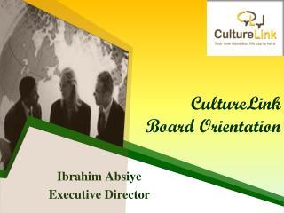 CultureLink Board Orientation
