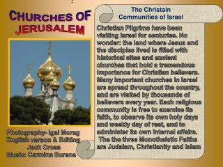 The Christain Communities of Israel