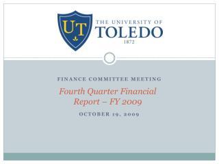Fourth Quarter Financial Report – FY 2009