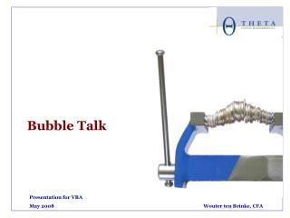 Presentation for VBA May 2008Wouter ten Brinke, CFA