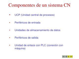 Componentes de un sistema CN