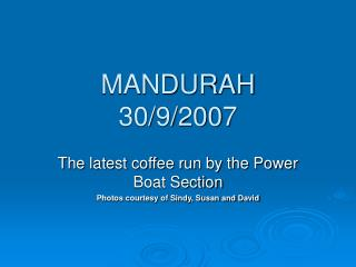 MANDURAH  30/9/2007
