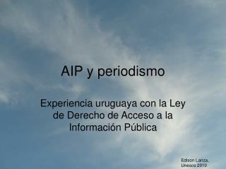 AIP y periodismo