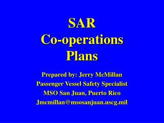 SAR  Co-operations  Plans