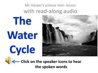 Mr. Harper's science mini- lesson with read-along audio