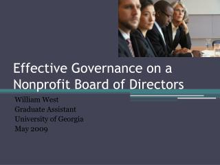Effective Governance on a  Nonprofit Board of Directors