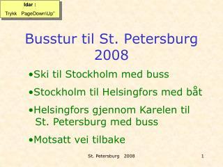 Busstur til St. Petersburg 2008