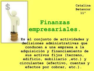 Finanzas empresariales.