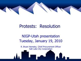 Protests:  Resolution