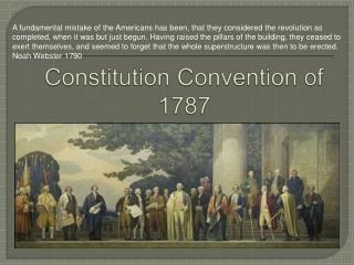 Constitution Convention of 1787