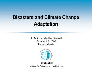 Disasters and Climate Change Adaptation
