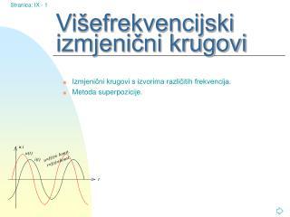 Višefrekvencijski izmjenični krugovi