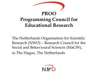 PROO Programming Council for Educational Research