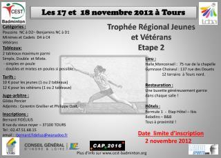 Les 17 et  18 novembre 2012 à Tours