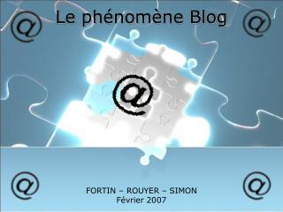 Le  phénomène  Blog
