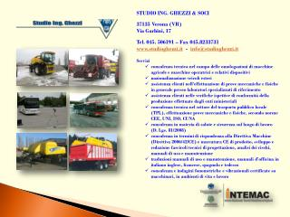 STUDIO ING. GHEZZI & SOCI  37135 Verona (VR) Via Garbini, 17  Tel.  045. 506191 – Fax 045.8233731