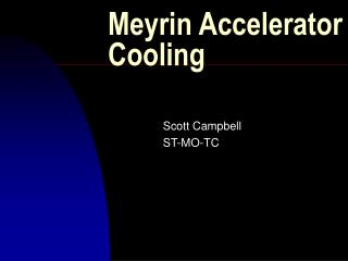 Meyrin Accelerator Cooling