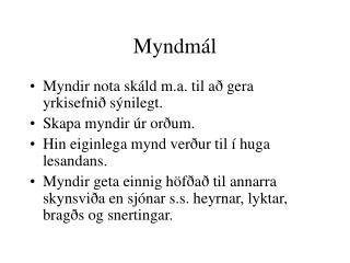 Myndm�l