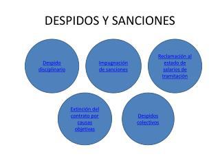 DESPIDOS Y SANCIONES