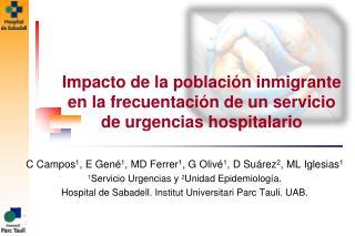 Impacto de la población inmigrante en la frecuentación de un servicio de urgencias hospitalario