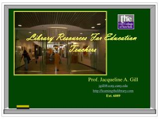 Library Resources For Education Teachers
