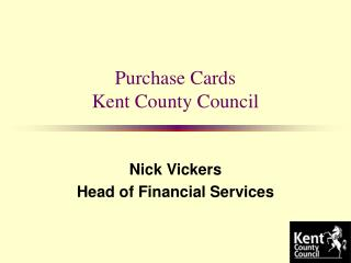 Purchase Cards Kent County Council