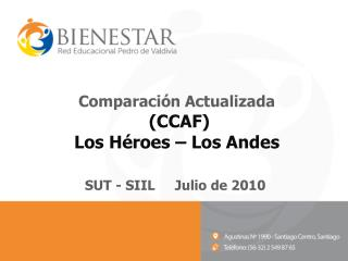 Comparación Actualizada  (CCAF) Los Héroes – Los Andes