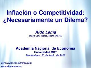 Inflación o Competitividad: ¿Necesariamente un Dilema?