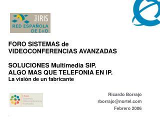 Ricardo Borrajo rborrajo@nortel Febrero 2006