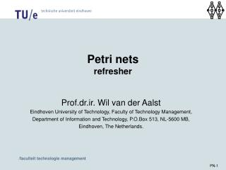 Petri nets refresher