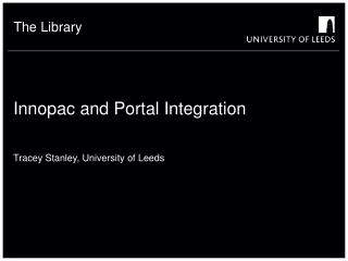 Innopac and Portal Integration