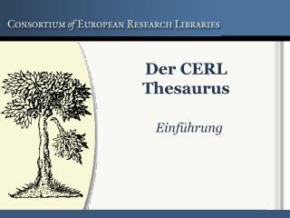 Der CERL Thesaurus