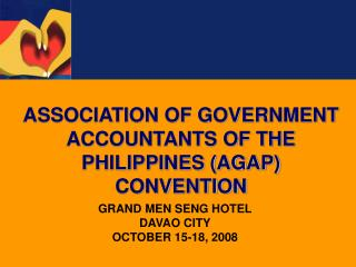 GRAND MEN SENG HOTEL DAVAO CITY OCTOBER 15-18, 2008