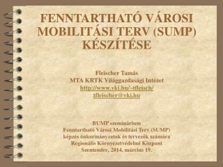 Fleischer Tamás MTA KRTK Világgazdasági Intézet vki.hu/~tfleisch/ tfleischer@vki.hu