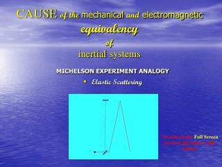 CAUSE of the  mechanical  and  electromagnetic  equivalency of  inertial systems