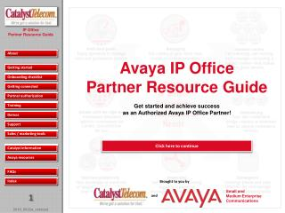 Avaya IP Office Partner Resource Guide