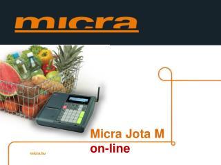 Micra Jota  M on- line