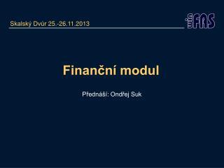 Finanční modul