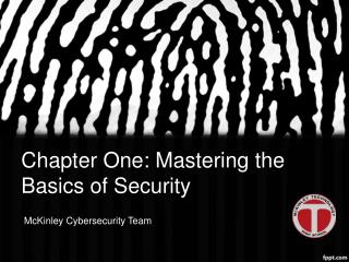 Chapter One: Mastering the Basics of Security