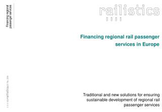 Financing regional rail passenger services in Europe