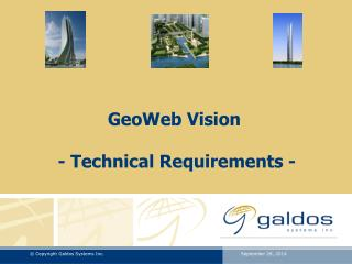 GeoWeb Vision  - Technical Requirements -