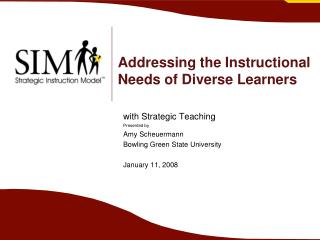 Addressing the Instructional Needs of Diverse Learners