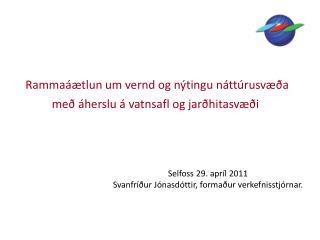 Rammaáætlun um vernd og nýtingu náttúrusvæða með áherslu á vatnsafl og jarðhitasvæði