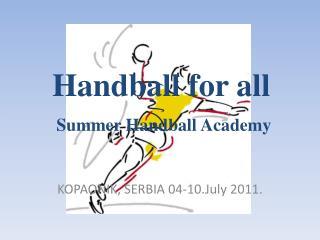 Handball for all