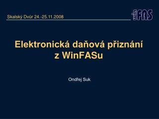 Elektronická daňová přiznání z WinFASu