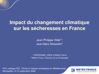 Impact du changement climatique sur les sécheresses en France