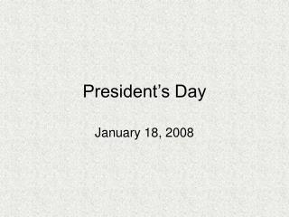 President s Day